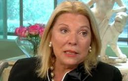 """I have an excellent relation with all the government (of president Mauricio Macri), and do not wish to be involved in any internal dispute"", said Carrió"