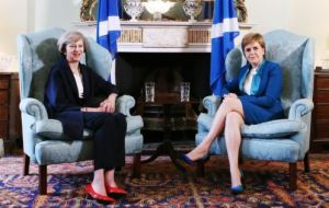 "She warned the UK and Ms May ""they will be making a big mistake if they think I am in any way bluffing"" on the prospect of another Scottish independence vote"