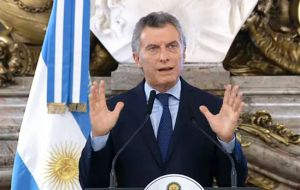 """We knew we had to give guarantees and certainty in order for investments to arrive,"" President Mauricio Macri said in announcing the agreement"