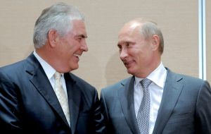 Tillerson was a familiar and popular figure in Moscow, awarded an Order of Friendship medal by Putin in 2013.