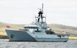 The Royal Navy said HMS Clyde has been almost constantly on duty in and around the Falkland Islands since her last overhaul in 2011.