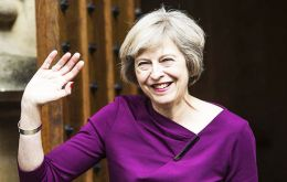 Downing Street sources denied the photo shoot which took place at PM's country retreat in Chequers, was in any way timed to coincide with May's trip to the US