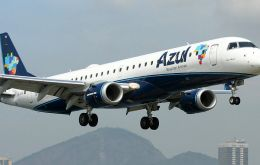 Azul is a Brazilian low-cost carrier which will serve the Belo Horizone-Ezeiza route with Embraer 195 aircraft