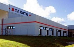 Most major carmakers have been affected by the fault, with about 100 million Takata airbags recalled globally. The assembly plant in San Jose, Uruguay