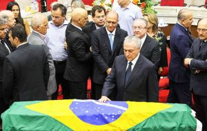 "While paying his respects at Zavascki's memorial in Porto Alegre, Temer said the new Justice would be nominated ""Only after a rapporteur has been named."""