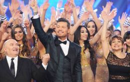 Marcelo Tinelli and his nightly display of dancing, gossip, music and color is king of ratings