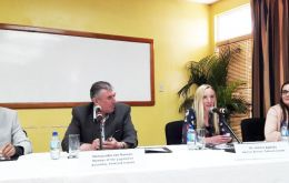 The roundtable included Falklands delegation to the Trinidad Energy Conference, headed by MLA Ian Hansen, and Advisors Victoria Collier and Amelia Appleby.