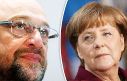 "SPD has governed in a ""grand coalition"" with Merkel's Christian Democrats since 2013 and is hoping that Schulz can boost its chances of gaining a mandate to govern"