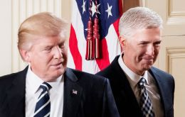 """Judge Gorsuch has outstanding legal skills, a brilliant mind, tremendous discipline and has earned bipartisan support,"" Trump said (Pic EPA)"