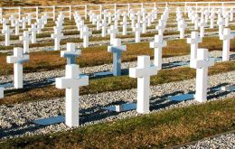 The Argentine cemetery in Darwin where the identification of unknown soldiers will be taking place