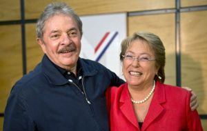 Lula visited Santiago in November 2013 for a conference, paid by OAS, and met with then presidential candidate Bachelet