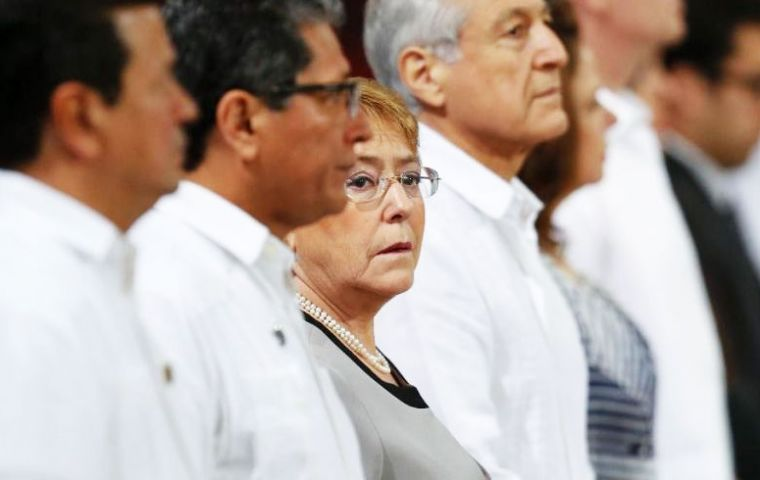 A story published by Veja said a former member of Brazil's Workers Party and an ex CEO had linked Bachelet to OAS as part of the corruption investigation. (Pic AP)