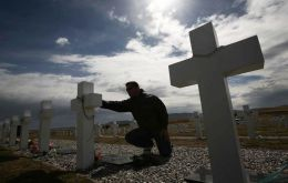 Falklands' Police are appealing for anyone who has visited the cemetery during December/January to contact them.