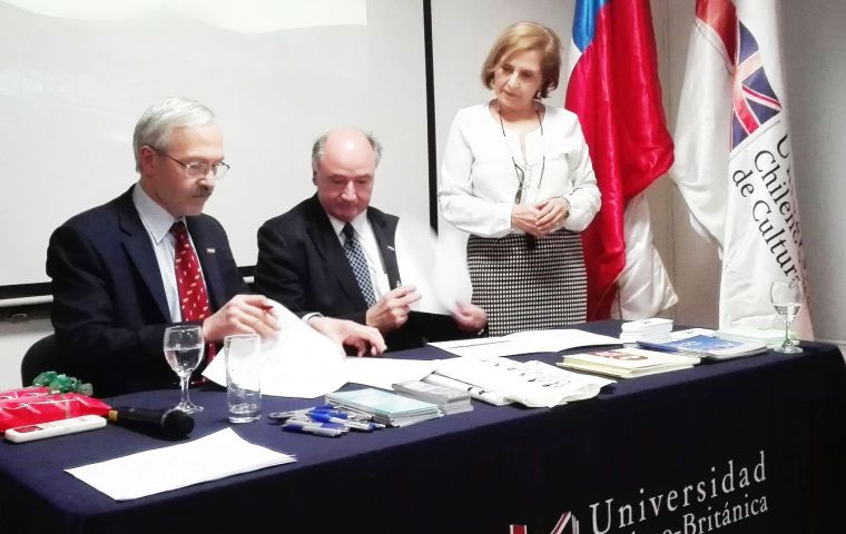 In October 2016, an MOU was signed between the Falkland Islands Government and the Chilean British University in Santiago, Chile.