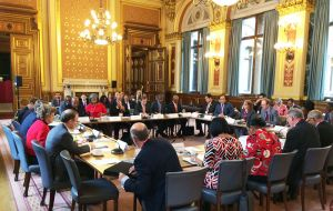The forum meeting where Brexit implications for Overseas Territories was addressed