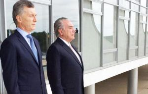 Argentine and Brazilian presidents Macri and Temer agreed in Brasilia that approaching the Pacific Alliance must also be a priority for Mercosur