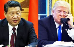 The telephone conversation with president Xi on Thursday night was the first between the two since Mr Trump took office on 20 January