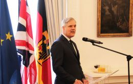 """The current model of using London as a gateway to Europe is likely to end,"" Mr Dombret said at the closed-door event."