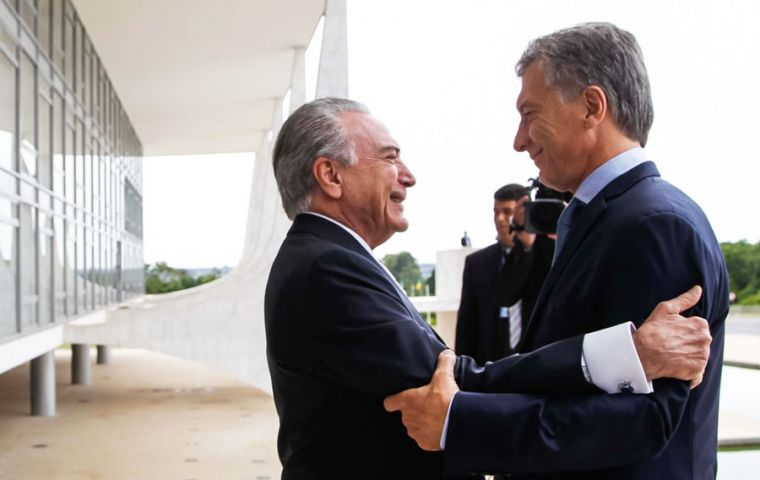 Earlier this month in Brasilia, presidents Mauricio Macri and Michel Temer agreed to give a new thrust to Mercosur trade negotiations with the European Union
