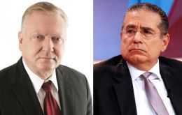 Following the raid, the firm's founders Ramon Fonseca Mora and Jurgen Mossack (L) were detained and transferred from the Public Prosecutor's Office to police cells
