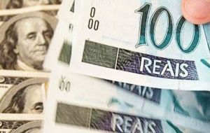 Following a rise in capital inflows and after the central bank resumed currency intervention the real firmed 0.45% to 3.096 real per dollar