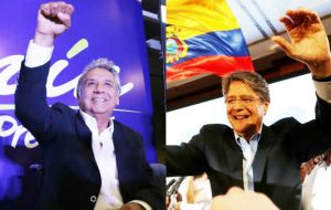 Moreno led the field in Sunday's election with 39.4% of votes, while Lasso finished second at 28.1%. Moreno fell just short of the 40% threshold needed