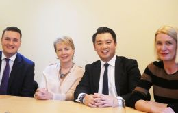 MP's Wes Streeting, KarinSmyth, Alan Mak and AmandaMilling at the press conference