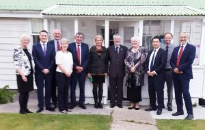 MPs received by Falklands MLAs at Gilbert House