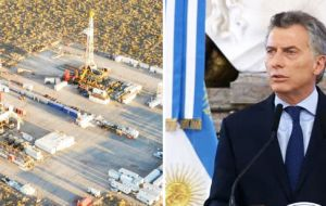 The deal comes after President Macri reached an agreement with oil companies and unions last month to stimulate investment in Vaca Muerta