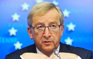 """We don't want to have hard borders between Northern Ireland and the Republic,"" Mr Juncker told reporters."