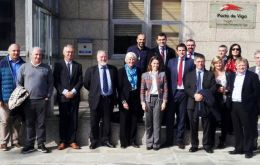 The Falklands delegation with Vigo port Authority officials