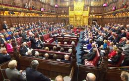 The House of Lords voted 358 to 256 to make an amendment to the European Union (Notification of Withdrawal) Bill.