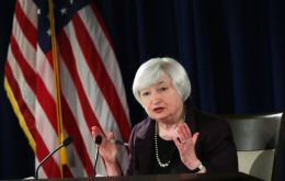 "If employment and inflation continue to evolve in line with expectations, ""a further adjustment of the federal funds rate would likely be appropriate"" said Yellen"