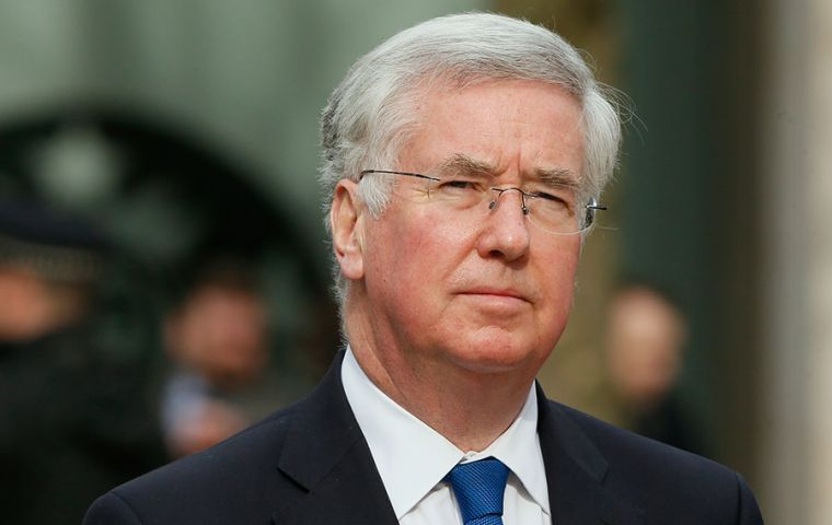 Defense Secretary Michael Fallon in 2015 announced Britain will spend £280m over the next 10 years on renewing and beefing up its defenses of the Falkland Islands