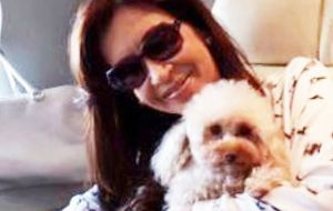 When asked court formality procedures, Cristina Fernandez said she lived with her pet Lolita and had her presidential pension seized by Judge Bonadio