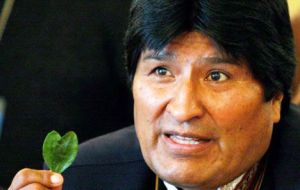 """We want to guarantee coca supplies for life"" for Bolivians who consume the leaves legally, sometimes in ancestral rituals, Morales said in a speech."