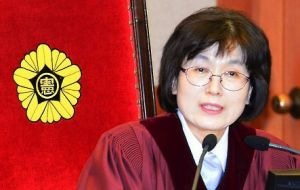 "Park's ""acts of violating the constitution and law are a betrayal of the public trust,"" acting Chief Justice Lee Jung-mi said."