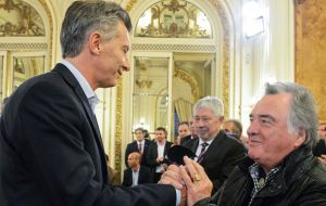 """He (Macri) called on Friday to reprehend me, he's a stubborn kid, bad tempered"" said union leader Luis Barrionuevo."
