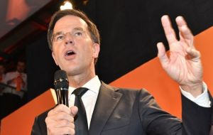 "Following Brexit and Donald Trump's election, ""the Netherlands said, 'Whoa!' to the wrong kind of populism,"" said PM Rutte, who is now poised for a third term"