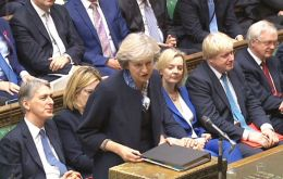 Mrs May will address MPs in a statement to the House of Commons following her regular weekly session of Prime Minister's Questions on March 29.