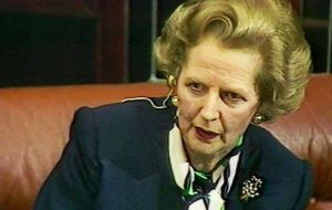 "Lady Thatcher famously told the 1980 Conservative party conference calling for a reverse of economic policies: ""you turn if you want to, this lady's not for turning."""