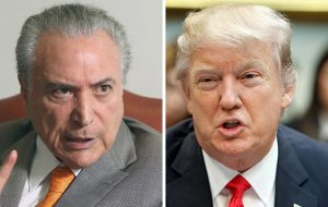 President Donald Trump invited Temer for a visit during a March 18 phone call, when the two leaders discussed deepening commercial and business ties