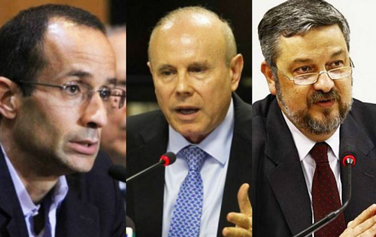 "Odebrecht said he never received a ""specific"" request for money from Temer and pointed former ministers Guido Mantega and Antonio Palocci as his contacts"