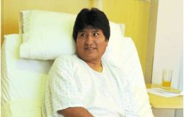 The Bolivian president will need to remain about six days without speaking to fully recover