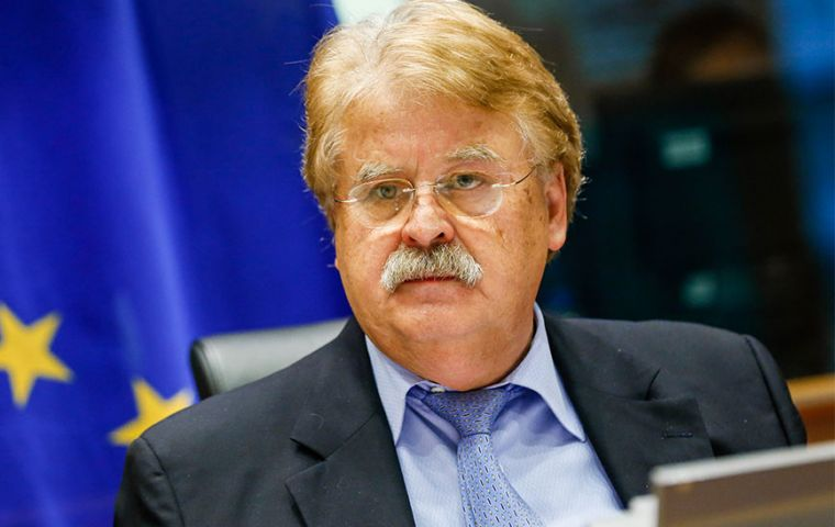 Mr Brok is the former chairman of the European Parliament's foreign affairs committee, and a member of Angela Merkel's CDU party.