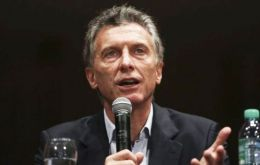 "Macri complained during a speech Wednesday that the strike ""does not help workers at all,"" accusing unions of ""mafia-like behavior."""