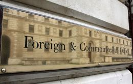 "A Foreign Office spokesman in March said: ""This is a commercial matter between two companies and not for the Foreign Office to comment on."""