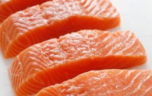 "Chilean salmon (Oncorhynchus kisutch) ""have antibiotic residues above the limit allowed by the International Codex Alimentarius (Codex Alimentarius)"