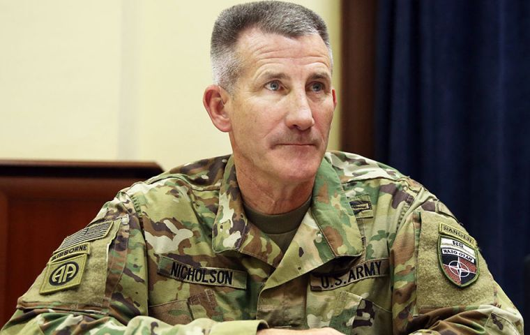 "Gen John Nicholson, head of US forces in Afghanistan, said: ""We have US forces at the site and we see no evidence of civilian casualties nor have there been reports."""