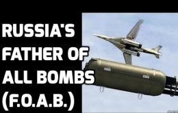 The father of all bombs was test-fired by the Russians in 2007. It is not clear if Russian forces used it in anti terrorist operations in Chechnya